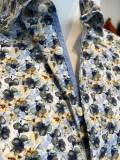 OLYMP Hemd Blumen Druck